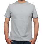 Plain Grey Round Neck T Shirts Printing Dubai