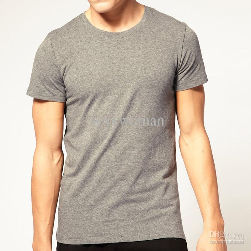Plain Dark Grey Round Neck T Shirts Printing Dubai