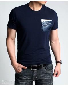 Nevy Blue Round Neck T Shirts Printing Dubai