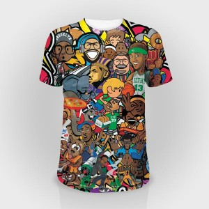 Dubai T Shirts Printing Full Sublimation printing