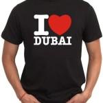 I Love Dubai T Shirts Printing